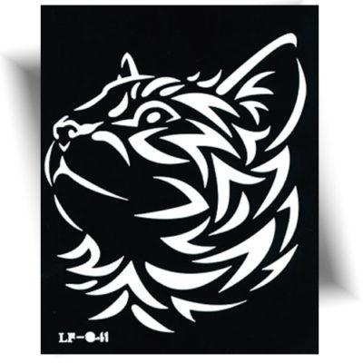 Pochoir adhésif tigre