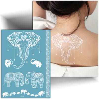Tatouage temporaire dentelle éléphant