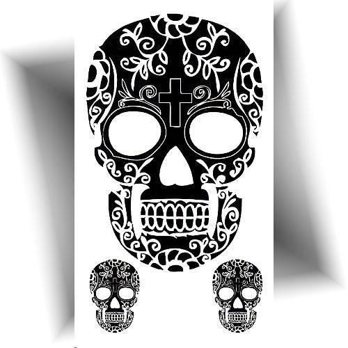 Mini tatouage provisoire skull