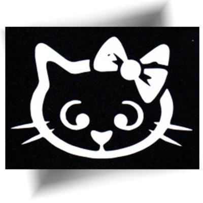 Pochoir chat nœud