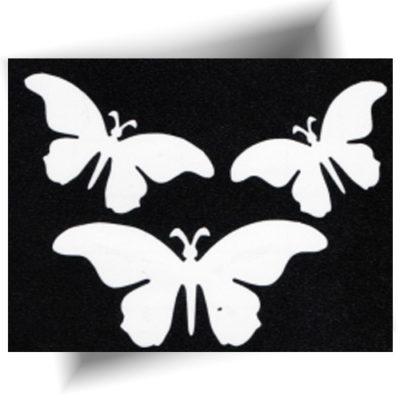 Pochoir adhésif trio papillons
