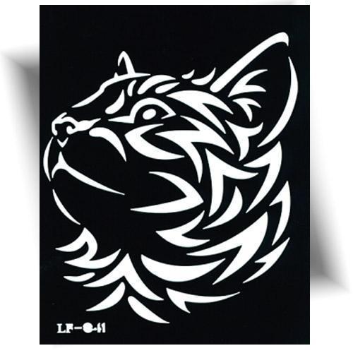 Pochoir tatouage éphémère tigre