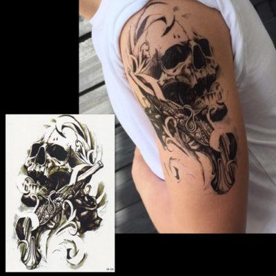 Tatouage éphémère skull