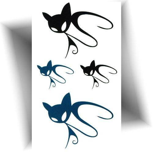 Mini tatouage éphémère chat