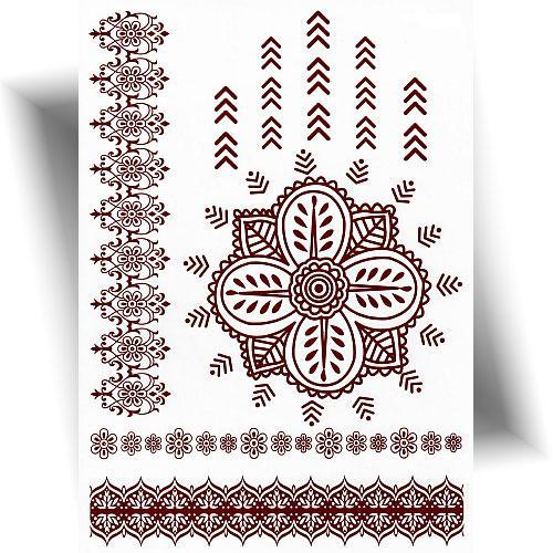 Tatouage-éphémère-effet-henné-fleur