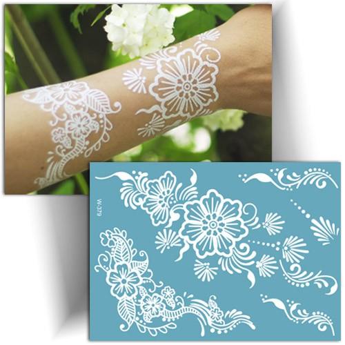 Tatouage éphémère fleur, henna tattoo, tatouage femme, Mikiti