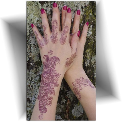Tatouage temporaire main, henna tattoo, Mikiti