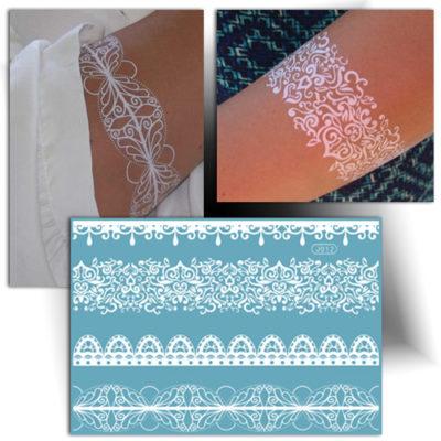 Tatouage dentelle bracelet