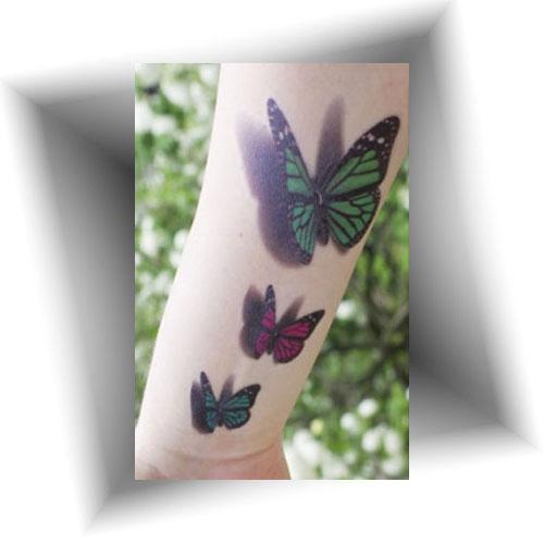 Tatouage-éphémère-3D-papillon