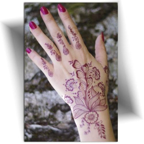 Tatouage éphémère main, Mikiti