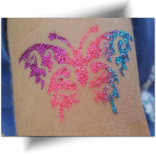Pochoirs animaux tatouage temporaire