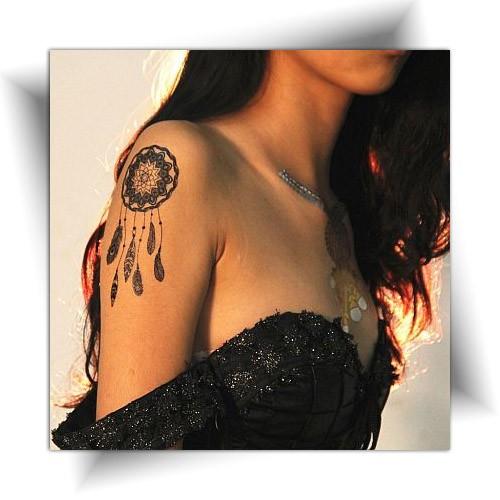Tatouage temporaire attrape rêve, décalcomanie femme, Mikiti