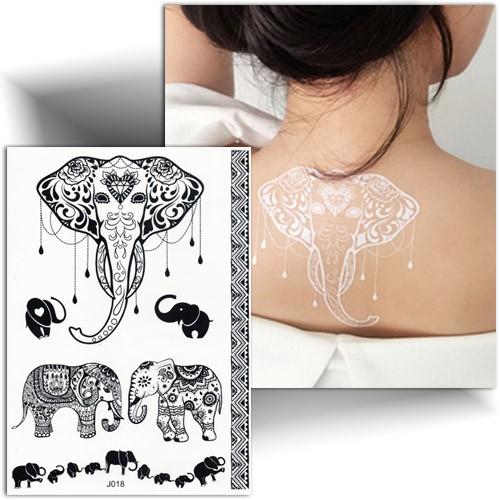 Tatouage Dentelle Elephant Tatouage Ephemere Mikiti