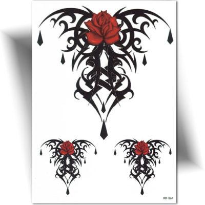 Tatouage temporaire tribal rose