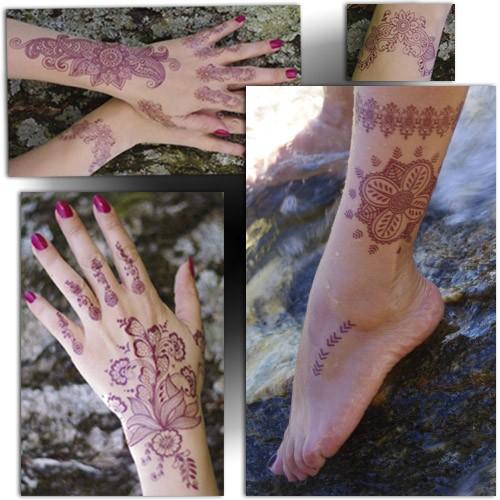 Tatouage temporaire henné, henné main, henna tattoo, Mikiti