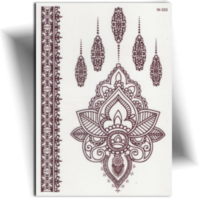 Tatouage temporaire main henné