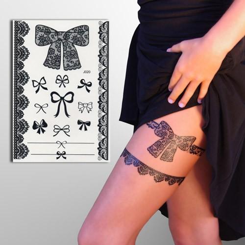 Tatoutage éphémère jarretière noir, faux tattoo sexy, Mikiti