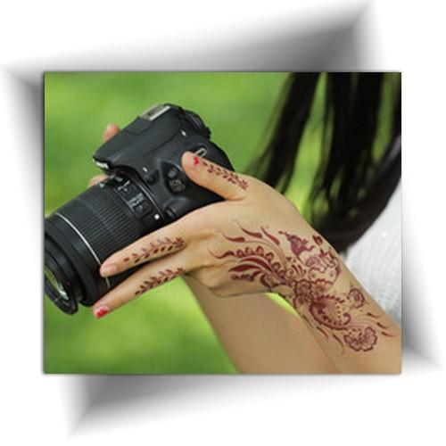 Tatouage temporaire main henné, henna tattoo, Mikiti