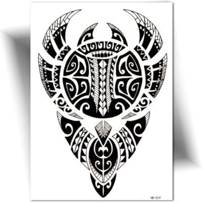 Tatouage temporaire Polynésien noir