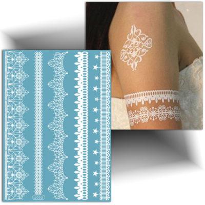 Tatouage dentelle bracelets