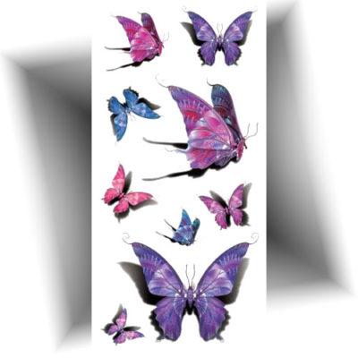 Tatouage temporaire papillons 3D