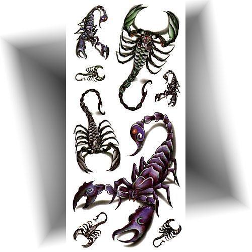 Tatouage temporaire scorpion 3D
