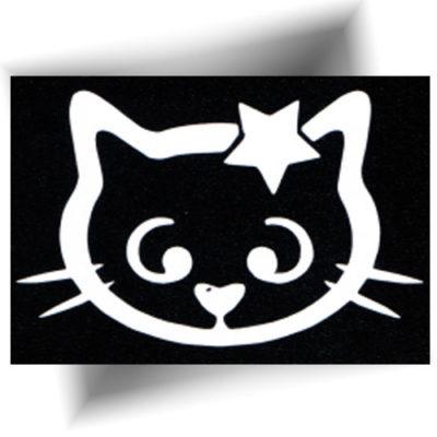 Pochoir adhésif chat étoilé
