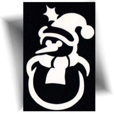 Pochoir adhésif snowman