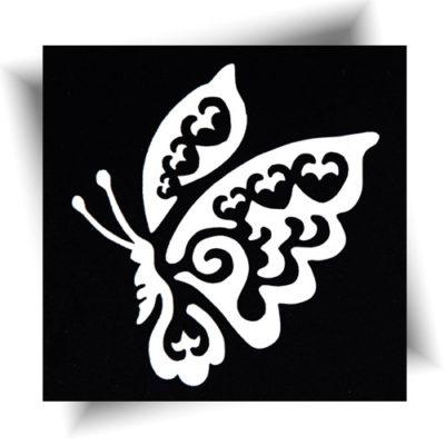Pochoir adhésif papillon Mélo