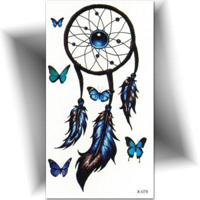 Autocollant de tatouage, attrape rêve