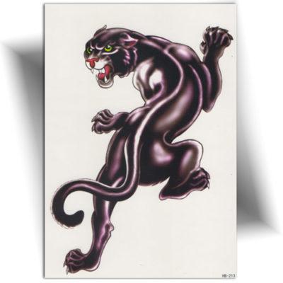 Tatouage éphémère panthère noire