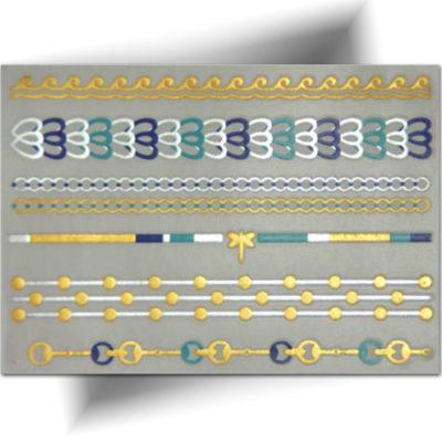Tatouage temporaire bracelets phosphorescents
