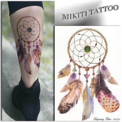 Tatouage éphémère attrape rêve émeraude