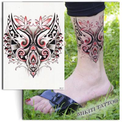 Tatouage temporaire masque Maori