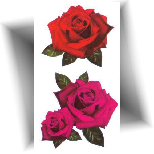 Mini tatouage temporaire rose