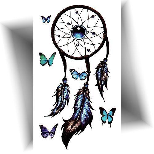 Mini tatouage éphémère attrape rêve