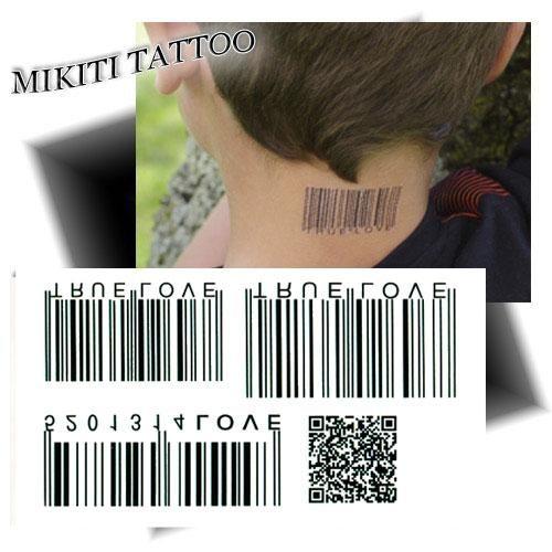Petit tatouage code barre