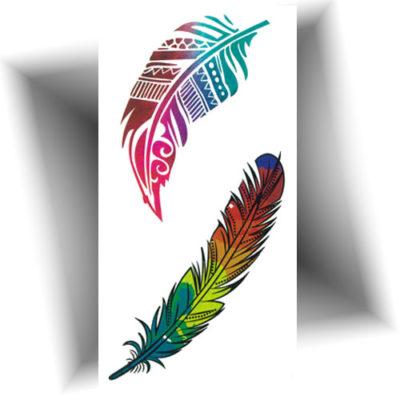 Mini tatouage provisoire plumes