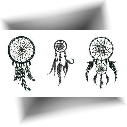 Mini tatouage temporaire attrape rêve