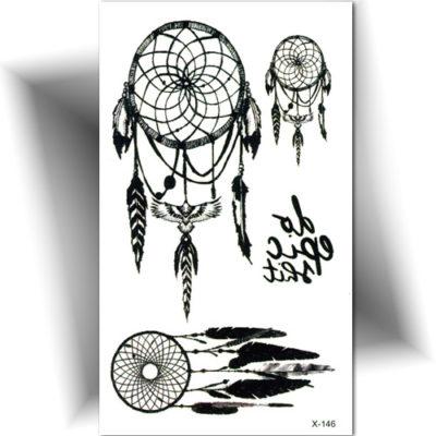 Petit tatouage temporaire attrape rêve