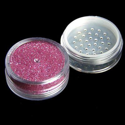 Paillette cosmétqiue rose pour la réalisation de vos tatouages paillettes, maquillage corps