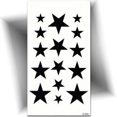 Petit tatouage éphémère étoile noire