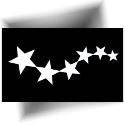 Pochoir adhésif étoiles