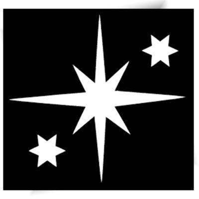 Pochoir adhésif étoile brillante