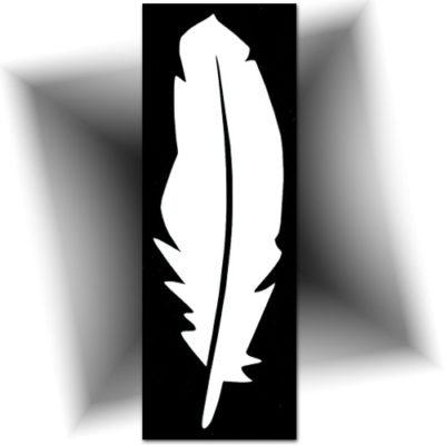 Pochoir adhésif plume
