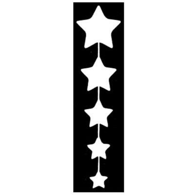 Pochoir adhésif star