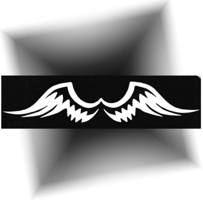Pochoir adhésif ailes d'ange tatouage temporaire