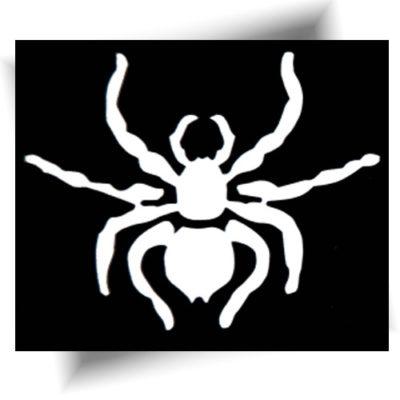 Pochoir adhésif spider tatouage temporaire
