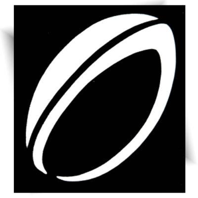 Pochoir adhésif ballon de rugby