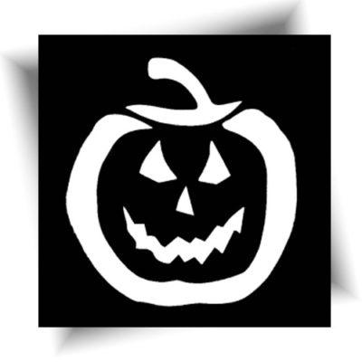 Pochoir citrouille pour vos animations tatouage paillette sur le thème Halloween